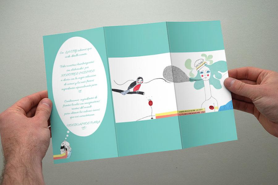 Diseño Gráfico Publicitario Zaragoza Triptico abierto