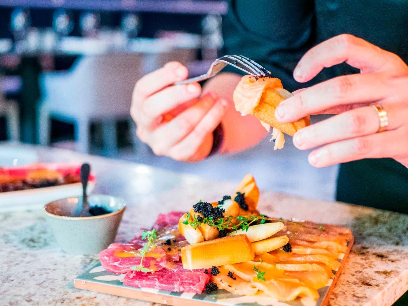 Fotografia para Redes Sociales-Producto-Restaurante La bella Lola platos
