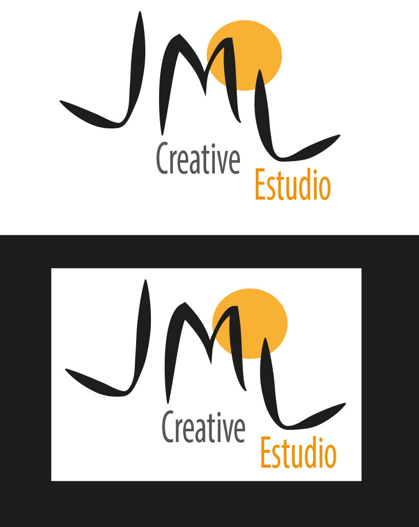 Identidad Corporativa JML Creative Estudio-Logo sobre fondo plano
