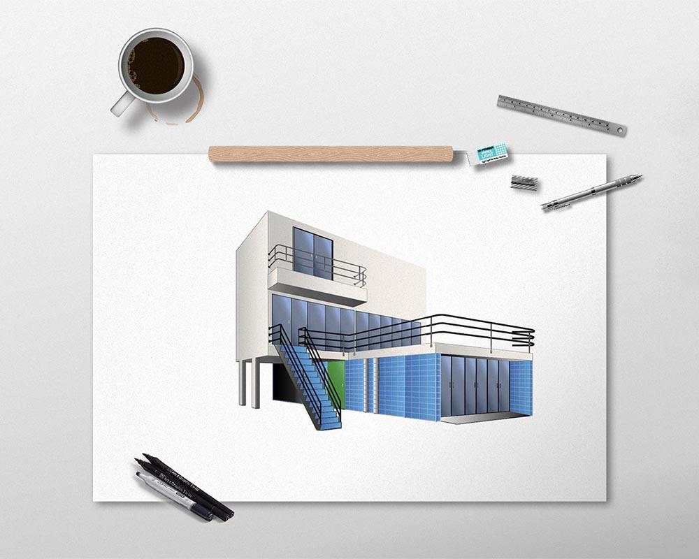 3D Edificio en Perspectiva