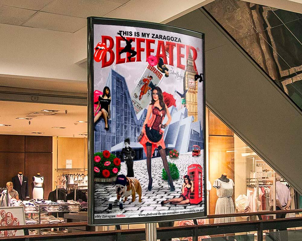 Cartel Publicitario Beefeater