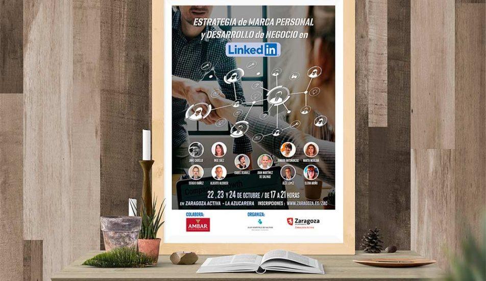 Portfolio-Diseño-Grafico-Jornadas-Linkedin-Cartel-Zaragoza-Activa
