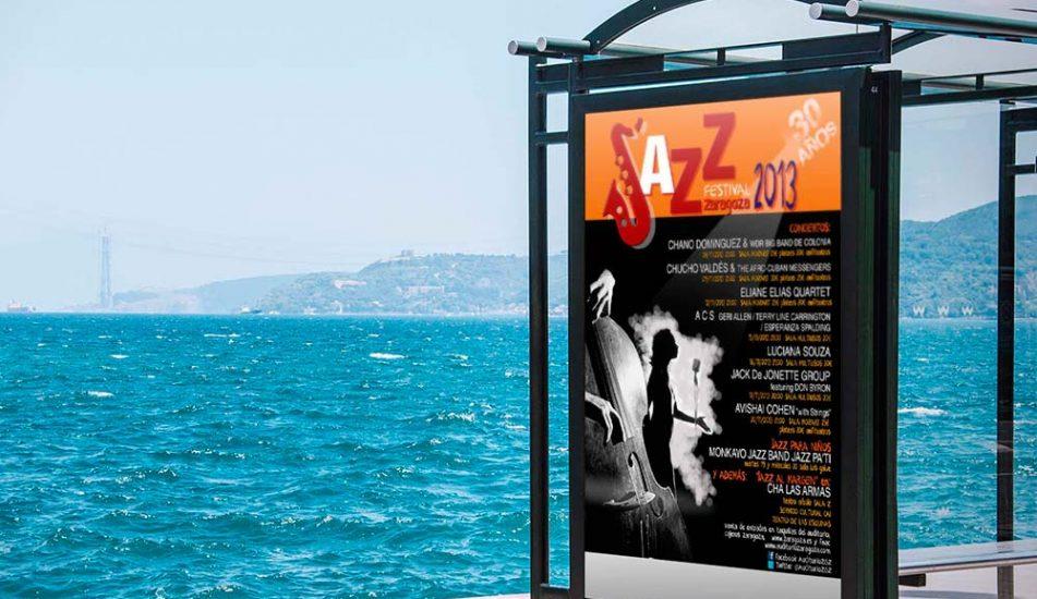 Portfolio Diseño Grafico Publicitario-MUPI Jazz Festival Zaragoza