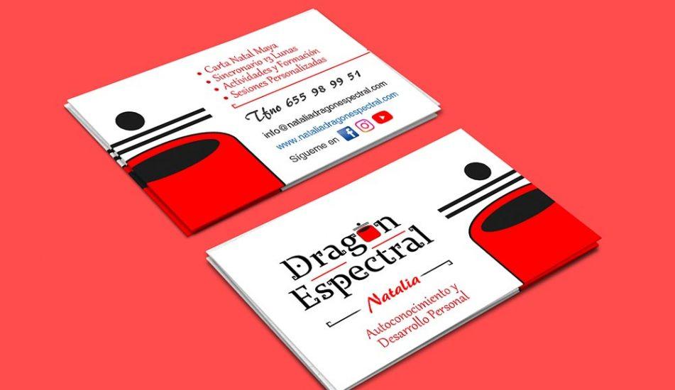 Portfolio-Identidad Corporativa-Logo y Tarjetas Natala Dragón Espectral